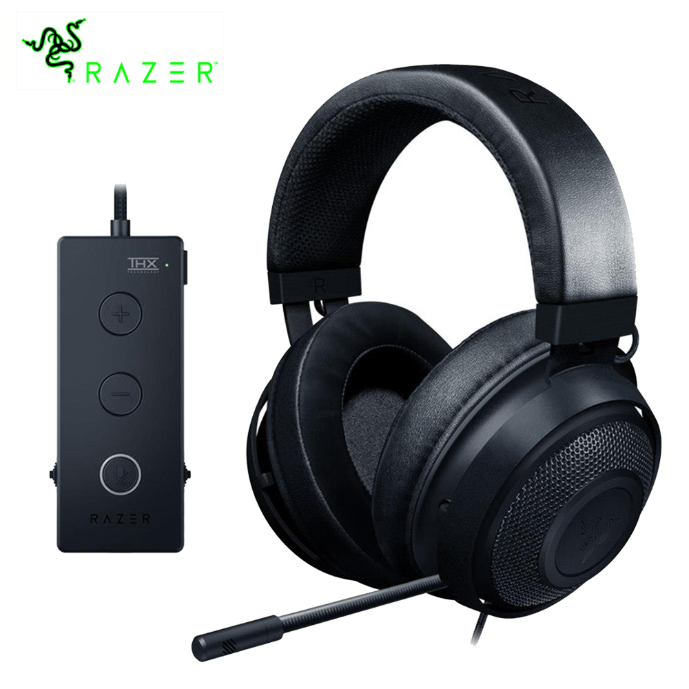 Razer Kraken Tournament Edition Gaming Headphone 3.5mm jack Works with PC, PS4, Xbox One, Switch, Mobile Devices Gamer Headset