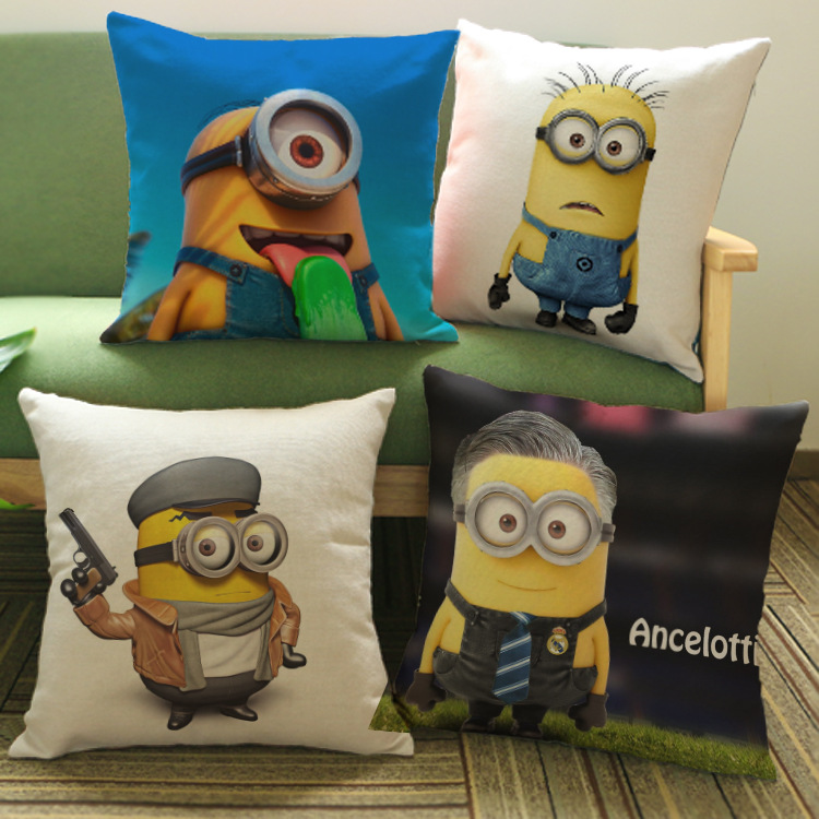 Custom Throw Pillows For Sofa : 2016 Yellow Man Cushion Without Core Custom Cotton Linen Decorative Throw Pillows Sofa Chair ...