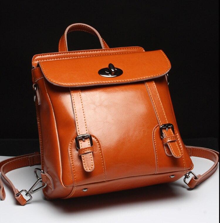 Luufan mode femmes sac à dos en cuir véritable sac à dos célèbre marque dame en cuir sacs à dos d'ordinateur portable sac d'école pour les adolescentes