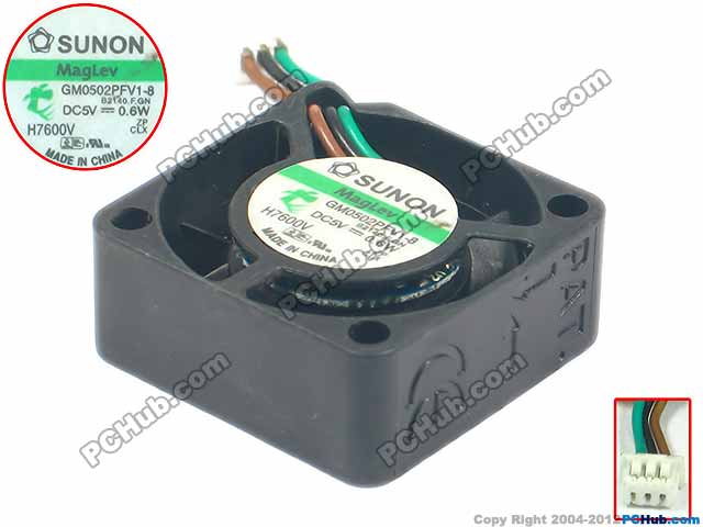 SUNON GM0502PFV1-8 M Server Square Cooling Fan DC 5V 0.6W 25x25x10mm 3-wire free shipping for sunon sf11025at ac 220v 0 10a 2 wire 110x110x25mm server square cooling fan