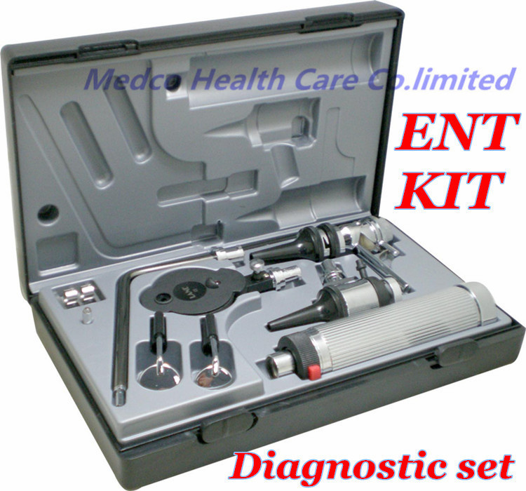Kostenloser versand High grade professionelle mehrzweck Hno-diagnostik-set kit ENT kit ENT set diagnostic set otoskop Ophthalmoskop image