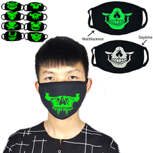 Luminous Skull Mask Masque Horreur Halloween Party Decoration Craft Supplies Funny Night Face