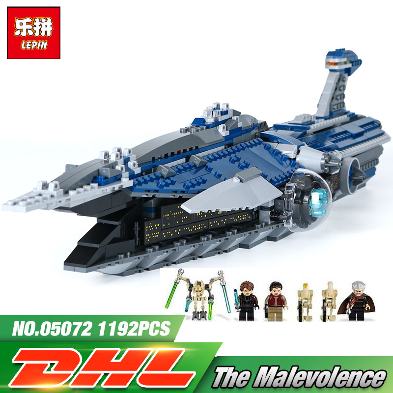 Lepin 05072 1192Pcs Star Series War The Malevolence Warship compatible with lego 9515 Model uilding Bricks Blocks Kids Toys Gift 2015 high quality spaceship building blocks compatible with lego star war ship fighter scale model bricks toys christmas gift