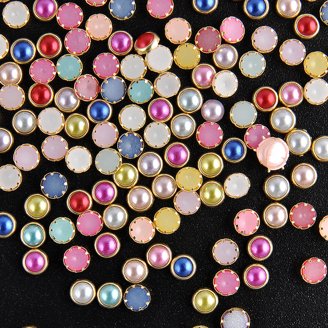 4mm 200pcs 3D DIY Nail Art Tip Mixed Colors Nail Rhinestones 2016 Beauty Nail Decoration Glitter Free Shipping NA1049
