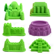 6pcs set World ancient Building Castle Mold Novelty Indoor Beach Toys Model Clay for Moving Magic