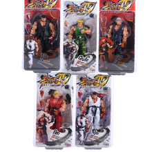 Free Shipping  NECA Player Select Street Fighter IV Survival Model Ken Ryu Guile Action Figure Toy 7″ 18CM