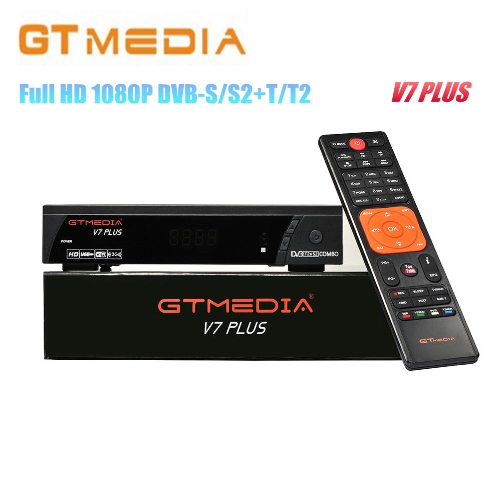 2PCS Lot GTMEDIA V7 PLUS 1080P Full HD DVB S S2 T T2 Satellite font b