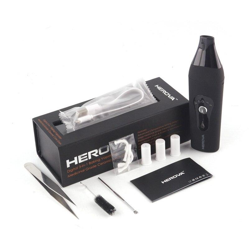 Original AIRISTECH Herova 3in1 cire sèche herbe et huile vaporisateur numérique Portable vapeur E cigarette vaporisateur herbe sèche Vape stylo - 2