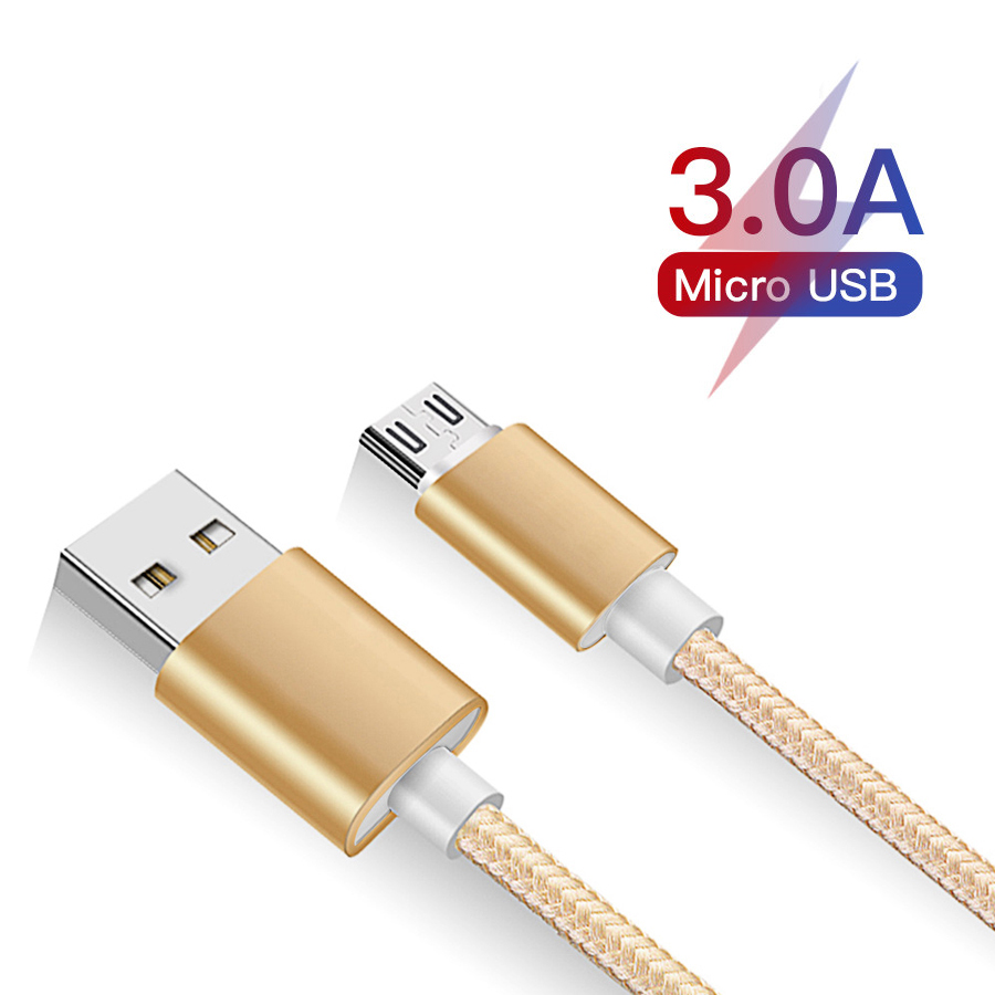 1m Micro USB Cable Fast Charging For Xiaomi Redmi Note 5 Pro Android Mobile Phone Data Cable For Samsung S7 Micro Charger