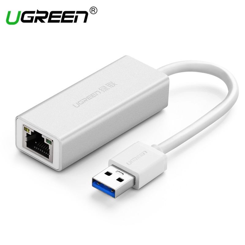 Ugreen Aluminum USB Ethernet Adapter USB 3.0 2.0 to RJ45 Lan for Windows 7/8/10 MacBook TV Box Nintend Switch USB Network Card xiaomi usb 2 0 ethernet adapter usb to rj45 lan network card for windows 10 8 8 1 7 xp mac os laptop pc chromebook smart