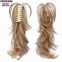 Grilshow девушек для отдыха Короткие вьющиеся синтетические парики коготь хвост 14 дюйм(ов) 90 г, 1 шт