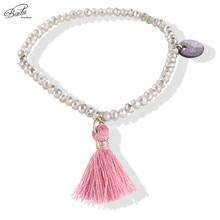 Badu Women Bracelets 2017 Fashion Tassel Friendship Girls Bracelets Crystal Beads Bohemian Summer Charming Jewelry Daily Lovely