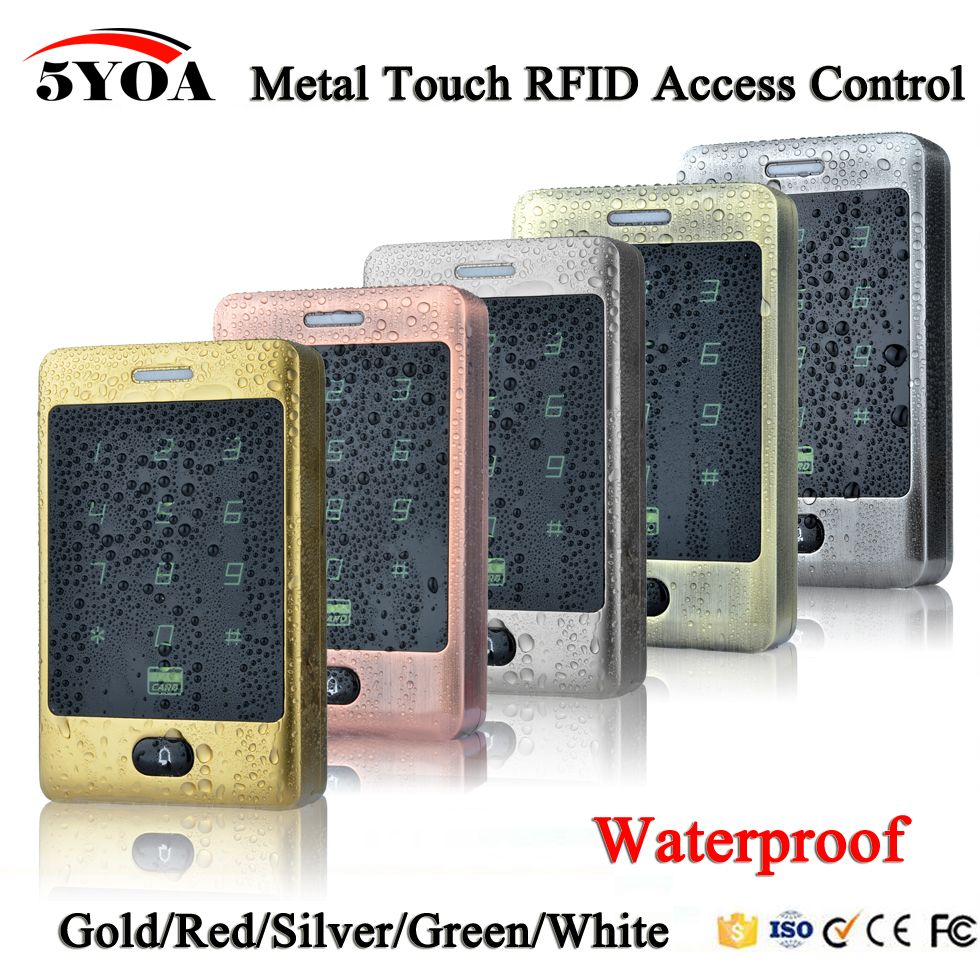 5YOA BC30FY RFID Access Control Waterproof 125KHZ Touch Keypad Door Access Control System KDL Metal Case Shell Backlight Keypad-in Access Control Kits from Security & Protection    1