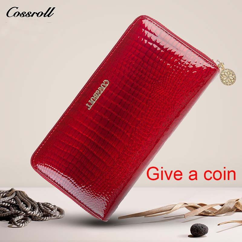 Brand Women Wallet Alligator Vintage Cow Leather Designer Zipper Organizer Wallets Female Card Holder Coin Purse Ladies Clutch dollar price women cute cat small wallet zipper wallet brand designed pu leather women coin purse female wallet card holder