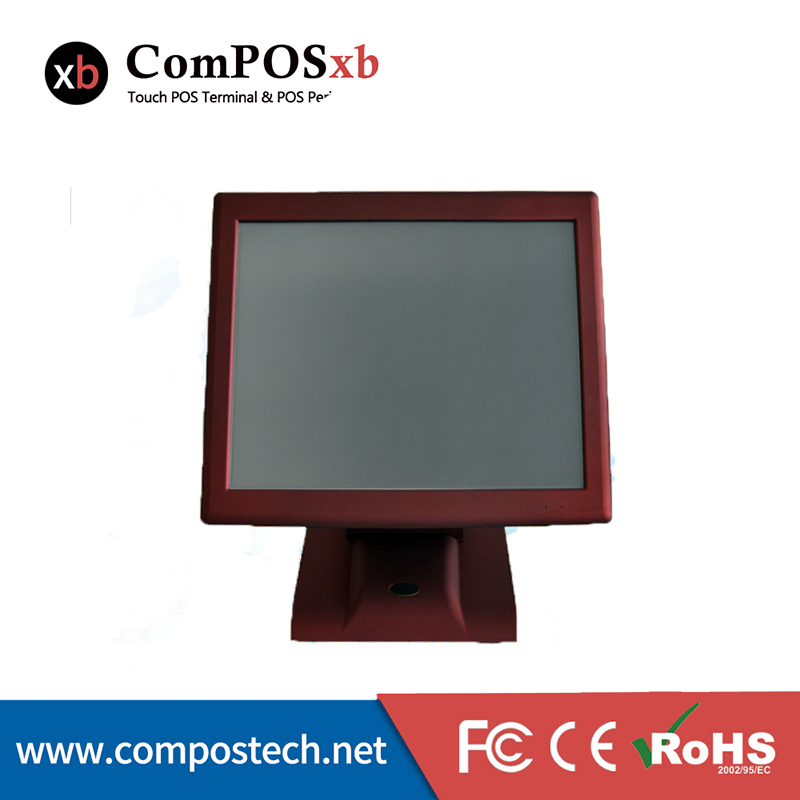 Factory Direct Sales 15 Red All In One Touch Screen POS System POS2119 With i3 4G/64G for Supermarket