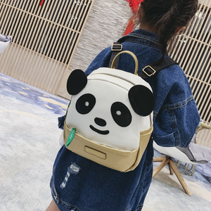 Image 3 - Korean Style Mini Kindergarten School Backpack for Girls Panda Kids Cute Bookbag PU Leather Backpack