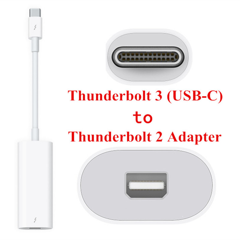 US $118 0 |40Gbps USB C Thunderbolt 3 Port to Thunderbolt 2 Adapter for  2016 Macbook Pro Display MC914 & Hard Disk-in Computer Cables & Connectors