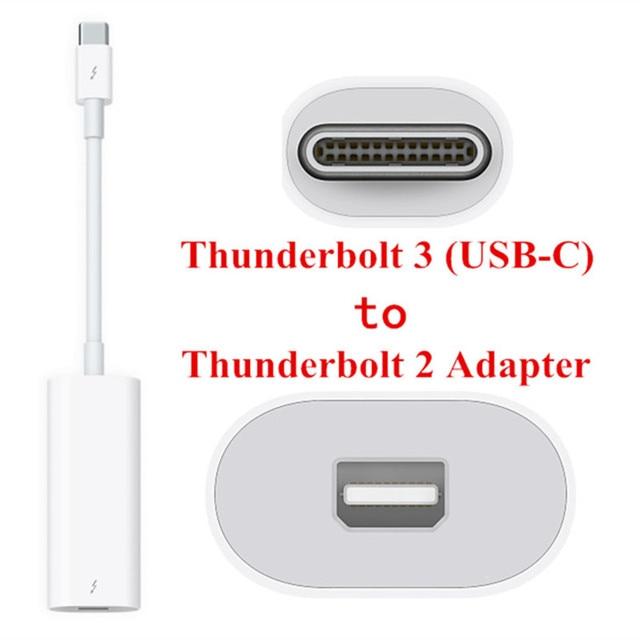 40Gbps USB C Thunderbolt 3 Port to Thunderbolt 2 Adapter for 2016