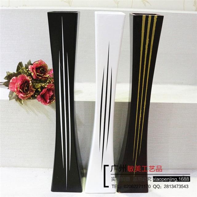 80cm Wooden Floor Vase Large Vase Vases Wholesale 80 Black And White