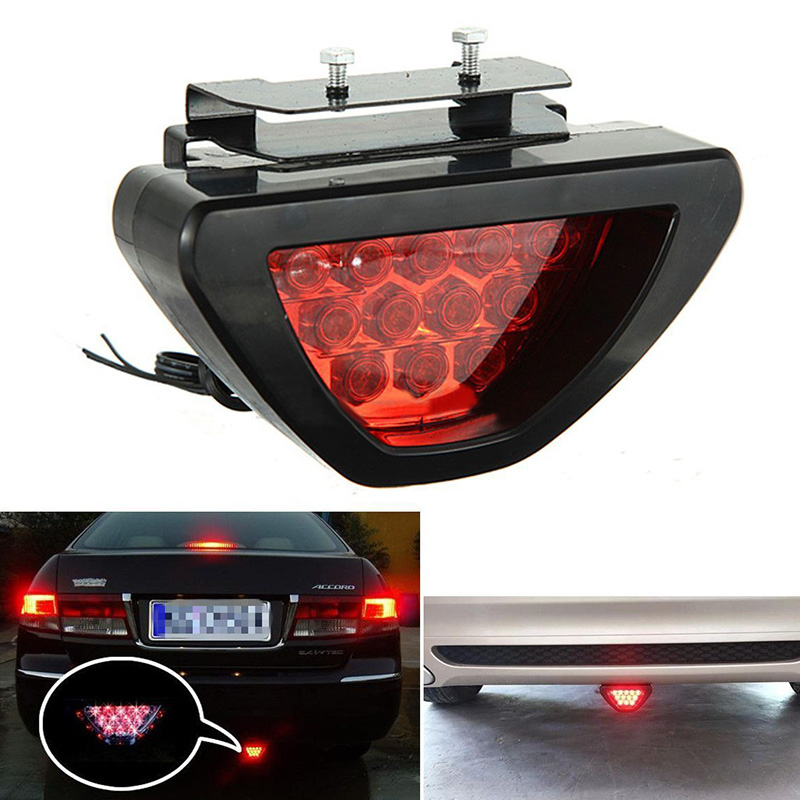 Mayitr Universal F1 Style 12 LED Red Car Third Rear Tail Light Brake Stop Safety Lamp High Power LED Light For Auto Truck SUV