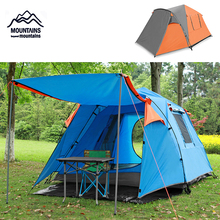 1 room 2 hall tent double outdoor tent multi-person camping camping anti-rain sunscreen sunshade tent