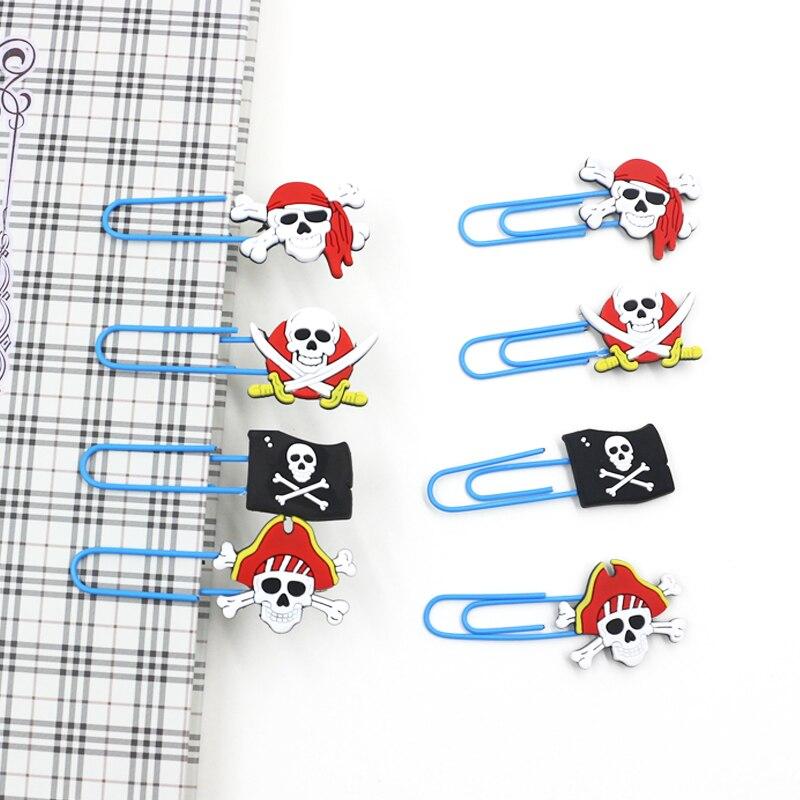 8 ピース/セット漫画ミニ海賊 PVC クリップブックマーク紙フォトメッセージクリップ文具事務用品のギフト -