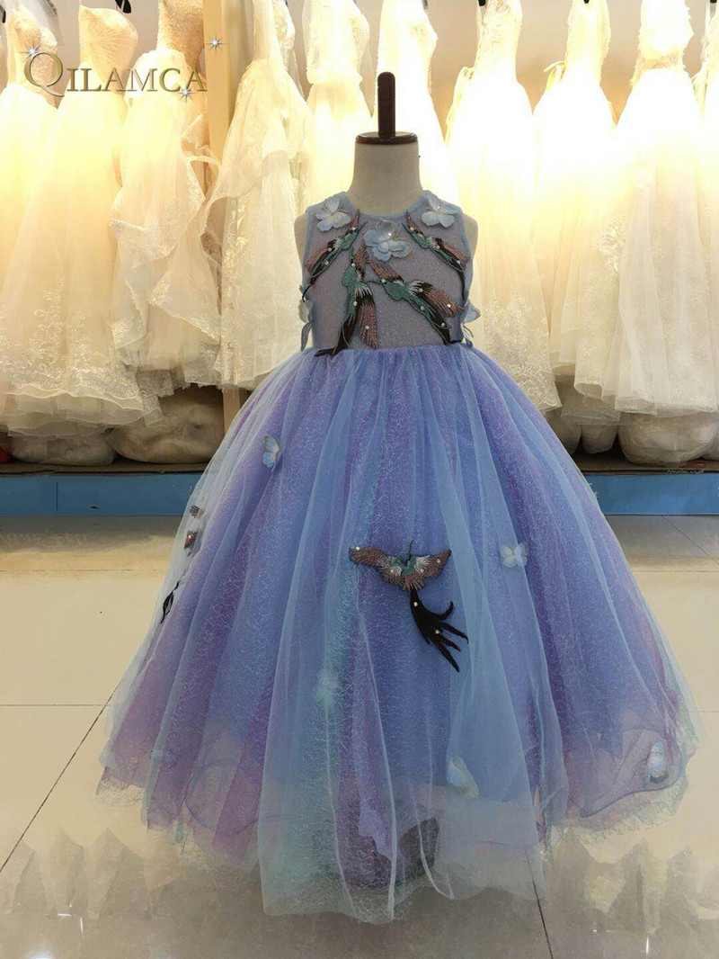 Princess Flower Girl Dresses 2018 Tulle Girls Pageant Dresses First ...