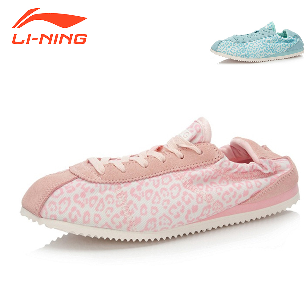 Li-Ning Women Walking Shoes Board Shoes Sneakers Soft Elastic Design Sports Life Classic Shoes LiNing ALCK146