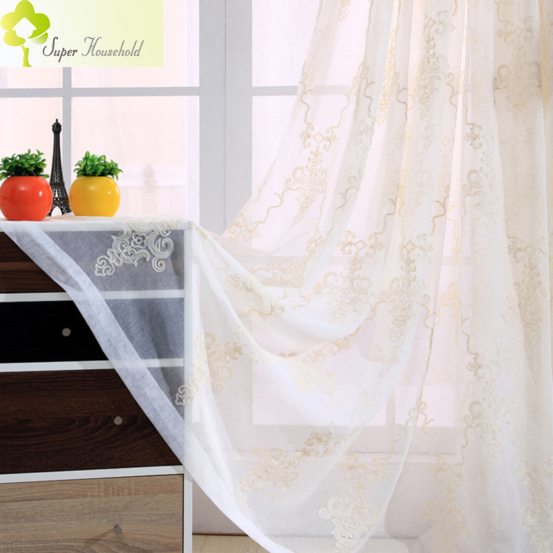 Huayin Velvet Linen Curtains Tulle Window Curtain For: European Cotton And Linen Luxury Curtains For Living Room