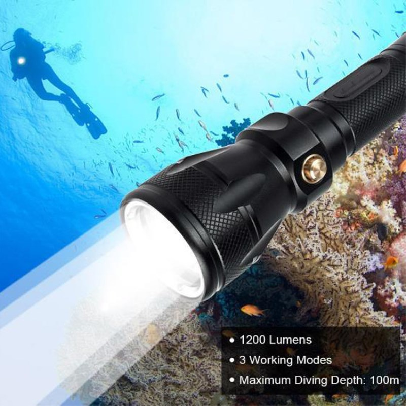 Underwater Diving Flashlight Waterproof 18650 rechargeable battery Torch Cree XPL XM-L2 led T6 Light diver Lamp white light cree xm l l2 5000lumens 18650 or 26650 rechargeable batteries scuba diver flashlight led torch underwater diving light lamp