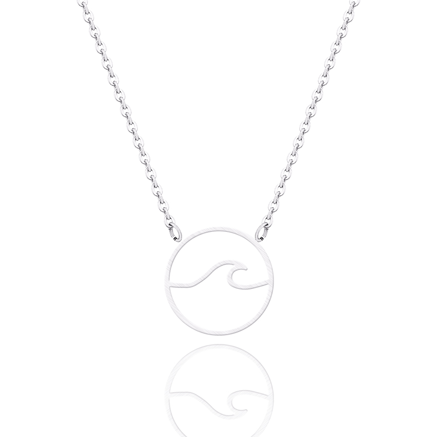 Detail Feedback Questions about 10PCS Minimalist Beautiful Beach Jewelry  Tsunami Ocean Surfer Nautical Art Wave Necklace for Women Ocean Vacation  Travel ... 019256650
