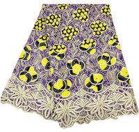 French Lace Fabric purple And gold thread Nigerian Lace Fabrics High Quality African Lace Fabric With bead