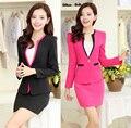 2015 nova moda outono inverno elegante Professional Business Suits Blazer e saia para senhoras escritório uniformes desgaste do trabalho Blazers