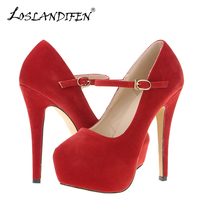 Ankle Strap NEW WOMENS HIGH HEELS PARTY COURT SHOES Flock CONCEALED PUMPS PLATFORM POINTED TOE SHOES