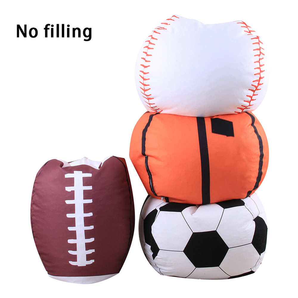 Plush Toy Pocket Soccer Basketball Storage Bags Rugby Canvas Pocket Toy Storage Bean Bag Soft Pouch Toy Organizer