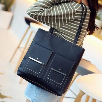 Fashion Women Leather Handbags Large Capacity Tote Bag Brand Ladies Hand Bags Luxury Handbags Women Bags Designer Sac A Main цена 2017