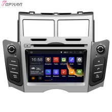 TOPNAVI 6.2'' Quad Core Android 6.0 Car DVD Play for Toyota Yaris 2005 2006 2007 2008 2009 2010 2011 Autoradio Multimedia Audio(China)