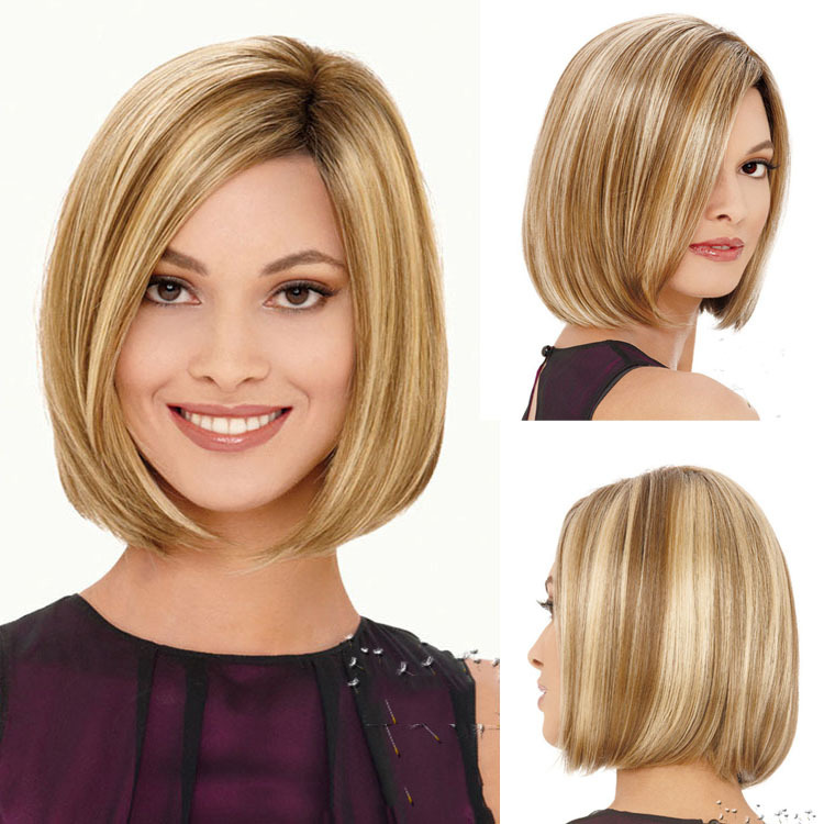 Classical piano color light brown mix blonde short bob wig classical piano color light brown mix blonde short bob wig highlights cheap heat resistant synthetic bob blonde wigs peruk on aliexpress alibaba group pmusecretfo Gallery