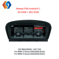 For BMW 3 Series E90 5 Series E60 E61 CCC Car GPS Multimedia Radio Android 8.1 Hotsale Indash BT Touch Screen Sat Navigation 8