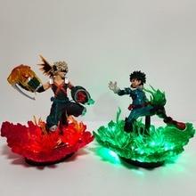 Мой герой Academia Lampara светодиодное освещение Bakugou Katsuki VS мидория изуку светодиодный ночник Boku no Hero Academia аниме лампа