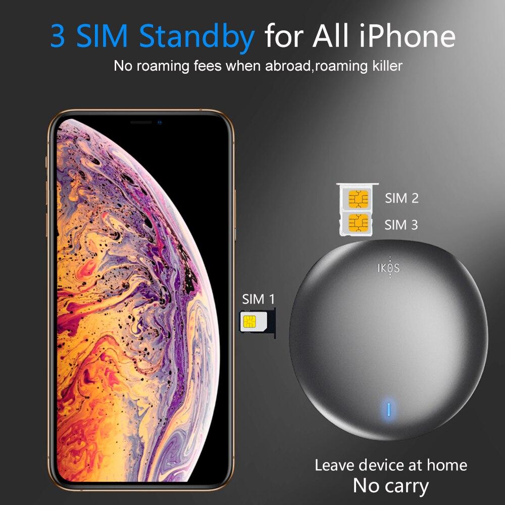 Keine roaming im ausland SIMadd iKos 3 SIM 3 Standby Aktivieren Online Zur Gleichen zeit WiFi Router für iPhone 6 /7/8/X iOS 7-12