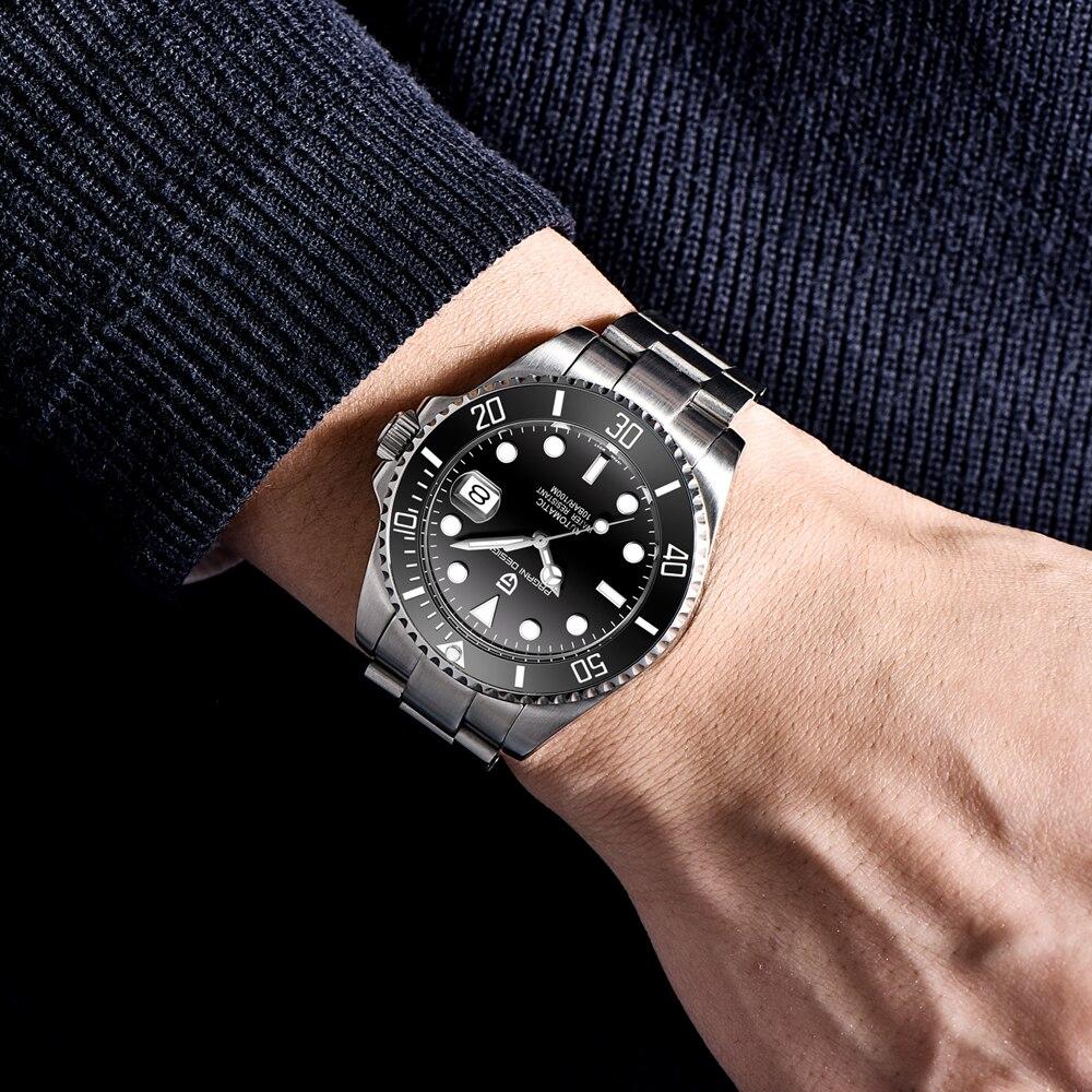 PAGANI Design Brand Luxury Men Watches Automatic Black Watch Men Stainless Steel Waterproof Business Sport Mechanical Wristwatch - 4