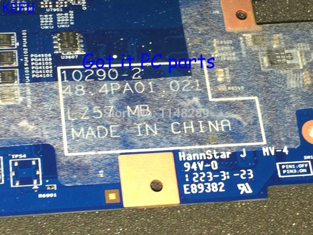 KEFU NOUVEAU!! livraison Gratuite 48.4PA01.021 LZ57 MB mère D'ordinateur Portable ADAPTÉ pour Lenovo B570E B570 ordinateur portable pc (avec vidéo puce)