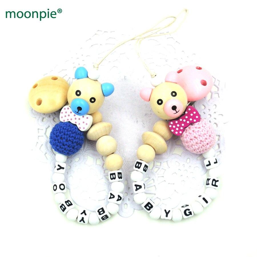 नई लकड़ी भालू मोती धनुष टाई प्राकृतिक बच्चे crochet लकड़ी मोती बच्चे लड़का बच्चे को जन्म उपहार खिलौना NT211 के लिए अनुकूलित शांत