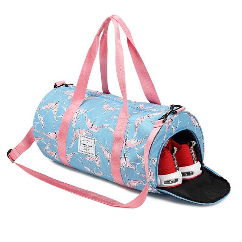 Fashion Ladies luggage Travel Bag Pink Sequins Weekend Shoulder Bag Portable Large capacity waterproof Women Handbag duffel Bags