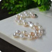 Горячая натуральный 10-11 мм смешанный цвет барокко жемчужное ожерелье Модные ювелирные изделия