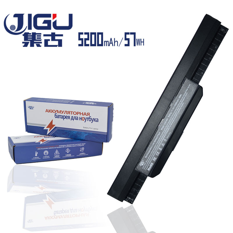 JIGU Laptop Battery For Asus A43E A43S K43E K43S X43E X43S X43E A43T K43T K43U A53E A53S K53E K53S K53T X43U K53 6 CELLS new laptop for asus a53t k53u k53b x53u k53t k53t k53 x53b k53ta k53z top lcd plamrst cover bottom cover hinges speaker jack
