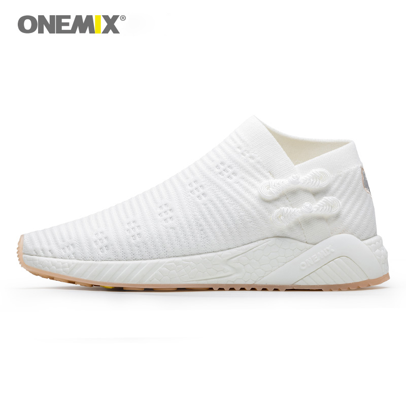 ONEMIX sneakers for women light cool breathable running shoes knitted vamp women shoes durable rubber outsole socks-lik sneakers