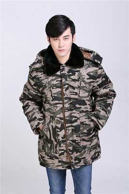 ФОТО 2016 Fashion Camouflage Parka Men Military Medium-long Men's Clothing Thickening Cotton-Padded Coat Winter Jacket H6867