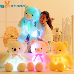 Bookfong 50cm creative light up led teddy bear stuffed animals plush toy colorful glowing teddy bear.jpg 250x250